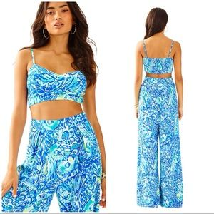 LILLY PULITZER Lizzy Crop Top and Flared Pants Set
